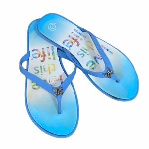 🟡Love this Life Brand Butterfly Flip flops